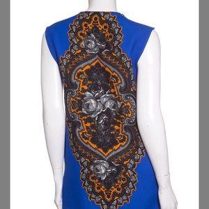 Stella McCartney Tops - STELLA McCartney Blue and orange sleeveless blouse